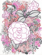 White and Pink Camellia and Fishy Fish