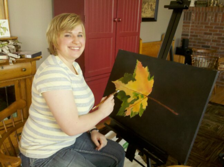 It's a leaf painting from a few years ago when my hairs were short.