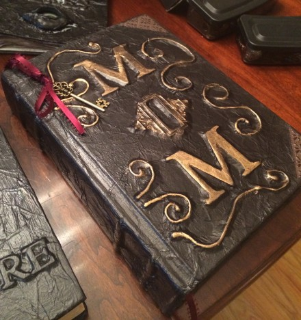 This is the Evans family spell book, full of secrets. Appropriate for MrE.