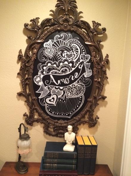 Bistro Chalkboard meets epic frame of epicness.