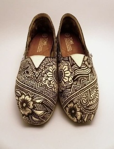 These hipster shoes brought to you by henna