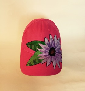 purple flower hat 1